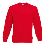 Fruit of the Loom - Set-In Sweat - Red - XL