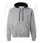 Gildan - Heavy Contrast Hooded Sweat - Sport Grey/Black - S