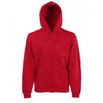 Fruit of the Loom - Hooded Zip Sweat - Red - XL
