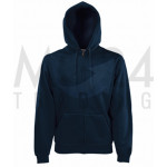 Fruit of the Loom - Hooded Sweat Jacket - Deep Navy - M